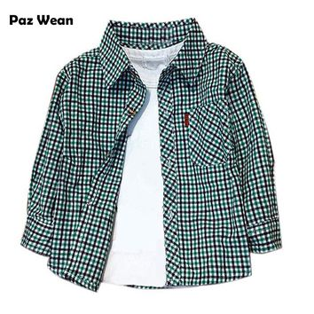 Baby Toddler Plaid Button Down Shirts
