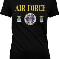 United States Air Force Juniors T-shirt, Seal Of The Department Of The Air Force Juniors Shirt