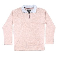 Softest Tip Shearling 1/4 Zip Pullover in Shearling by True Grit - FINAL SALE