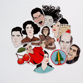 Twin Peaks Illustrated Sticker / Magnet Pack