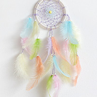 DreamCatcher, Boho Dreamcatcher, Car Mirror Dreamcatcher, Pastel Dream catcher, Pink dreamcatcher Handmade, Wall Hanging, Home Decor, Gypsy