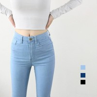 High Waist High Elastic Jeans Women Hot Sale Skinny Pencil Denim Pants Fashion Pantalones Vaqueros Mujer