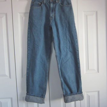 High Waisted LL Bean Jeans, Vintage Mom Jeans, High Waist 29, Denim Jeans, Womens 6 Tall, 80s 90s Jeans, Boyfriend Blue Jeans, Hipster