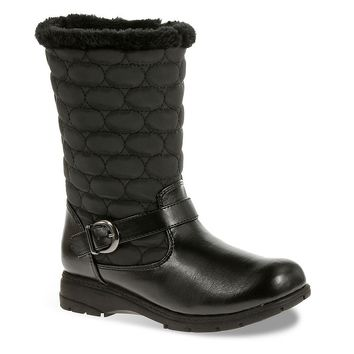 Soft Style by Hush Puppies Pixie Women's Quilted Boots (Black)