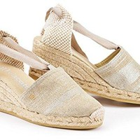 """VISCATA Escala 2.5"""" Wedge, Soft Ankle-Tie, Closed Toe, Classic Espadrilles Heel Made in Spain"""