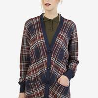 Carry Plaid Cardigan