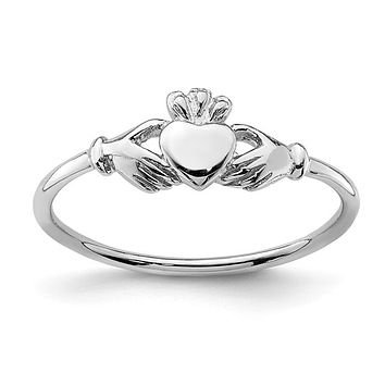 Sterling Silver Petite Claddagh Ring