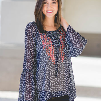 Paisley Fires  Embroidered Tunic
