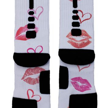 Kissing Lips Custom Nike Elite Socks