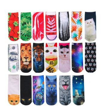 Meet Space Cat Galaxy Socks Funny Crazy Cool Novelty Cute Fun Funky Colorful