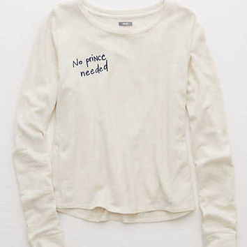 Aerie Fleece Swing Sweatshirt , Heather Frost