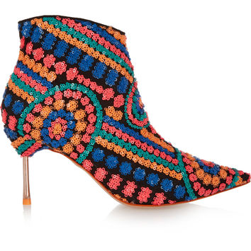 Sophia Webster - Coco sequined mesh boots
