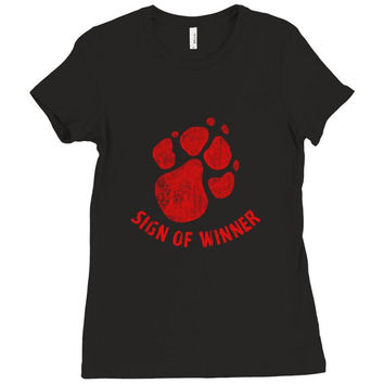 147. sign of winner 040 Ladies Fitted T-Shirt