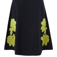 Carven Navy Neon Mesh Floral Lace Skirt | Skirts by Carven | Liberty.co.uk
