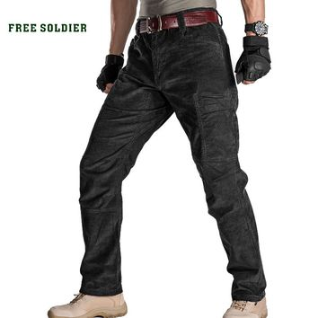 FREE SOLDIER outdoor sports camping hiking tactical thick warm military pants men's  cotton trouser