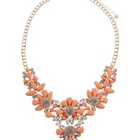 Lipsy Statement Opaque Flower Collar Necklace