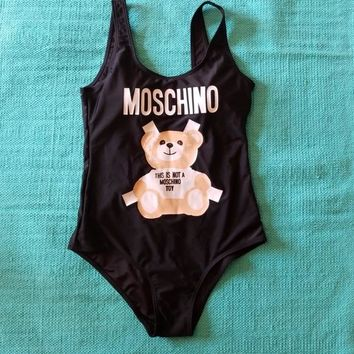 Moschino Bathing Suit One Piece Bikini Swimsuit Swimwear