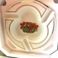 "NIB ROMEO Y JULIETA CERAMIC PORCELAIN BELICOSO 10"" CIGAR ASHTRAY"