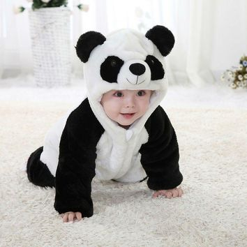 Baby Panda Fleece Onesuit