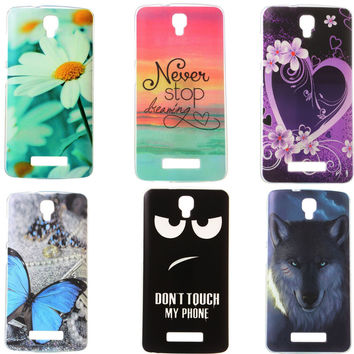 Hot Selling Soft Silicone phone Protective Case for ZTE Blade L5 L5 plus TPU Back cover Etui Never Stop Dreaming Daisy Heart
