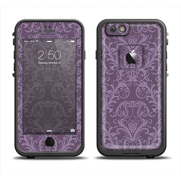 The Dark Purple Delicate Pattern Apple iPhone 6 LifeProof Fre Case Skin Set