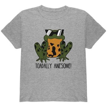 LMFCY8 Toad Totally Awesome Funny Pun Youth T Shirt