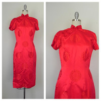 Vintage Red Chinese/Asian Style Dress