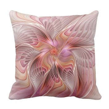 Abstract Butterfly Colorful Fantasy Fractal Art Outdoor Pillow
