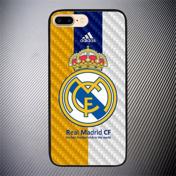 Real Madrid CF Logo Carbon High Quality Case For iPhone 6 6s Plus 7 8 Plus Cover