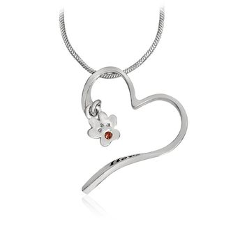 I love you more Paw Heart Pendant Necklace Silver Gold Cat Kitten Dog Claw Footprints Animal Jewelry Gift For Pet Owner Lovers