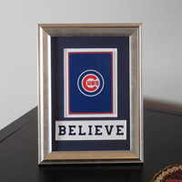 Chicago Cubs 5x7 BELIEVE Authentic Playing Card Display Matted FRAMED NF2222