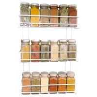 Evelots® 3 Tier Wall Mounted Spice Rack, White