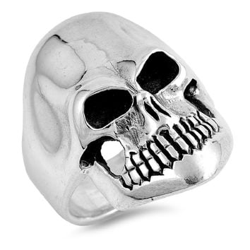 925 Sterling Silver Classic Skull Ring 27MM