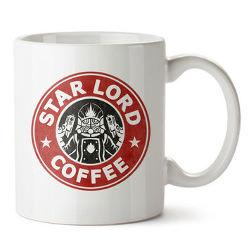 Star Lord Coffee Starbuck Logo Ceramic Mug