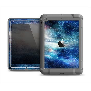 The Blue & Gold Glowing Star-Wave Apple iPad Mini LifeProof Fre Case Skin Set