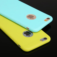 6 Candy Colors Soft Silicon Phone Cases for iPhone 6 6S 5 5S SE 7 7 Plus