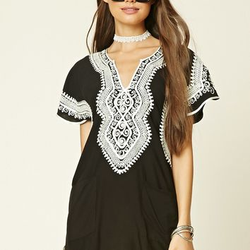 Ornate Embroidered Shift Dress
