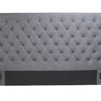 Lola King Headboard Grey Fabric 100% Polyester Plywood