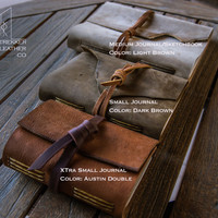 Xtra Small Leather Journal | Personal Journal | Travel journal | Hand Made in the U.S.A.