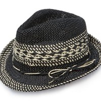 Straw Fedora (Black)