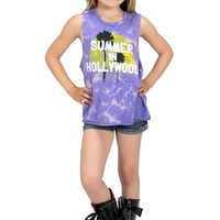 Dirtee Hollywood Summer In Hollywood Purple Muscle Tee | Mod Angel