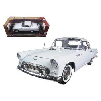 """1956 Ford Thunderbird White """"Timeless Classics"""" 1/18 Diecast Model Car by Motormax"""