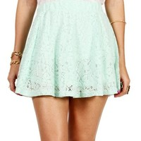 Mint Lace Skater Skirt