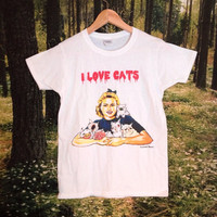 I love Cats Women's Artist Tshirt by PenelopeMeatloaf on Etsy