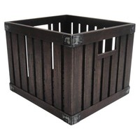 Threshold™ Vintage Milk Crate - Dark Brown