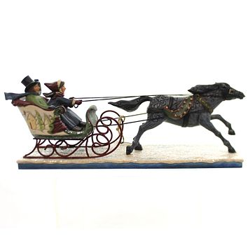Jim Shore The Horse Knows The Way Christmas Figurine