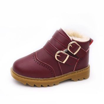 Christmas Children Warm Boys Girls Martin Sneaker Boots Kids Baby Casual Shoes Kids shoes Snow Boots Sport Shoes Sport Shoes