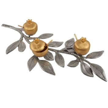 Pomegranate Branch Condiment Dishes by Quest, Serving Pieces