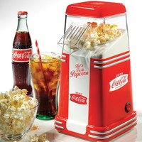 Nostalgia RHP310COKE Limited Edition Coca-Cola 8-Cup Hot Air Popcorn Popper