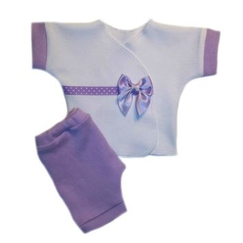 Baby Girls' Delightful Lavender Shirt and Shorts Clothing Outift